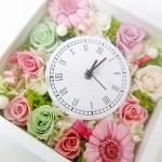 ご両親贈呈にも人気の花時計