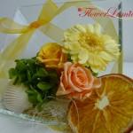 夏限定!ガラスのフレームアレンジ