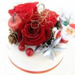 クリスマスプリザーブドフラワーケーキ